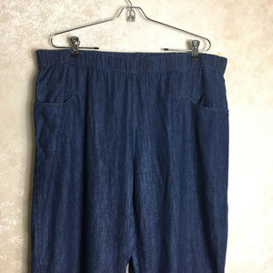 J. Jill Pure Jill Size 1X Indigo Pull On Pants